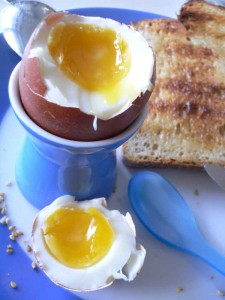 Frühstücksei richtig lecker.